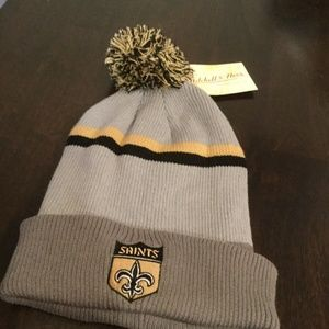 NWT New Orleans Saints Mitchell & Ness Winter Hat